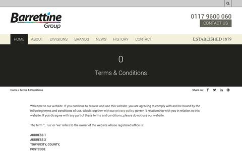 Screenshot of Terms Page barrettine.co.uk - Terms & Conditions | Barrettine Group - captured May 1, 2017