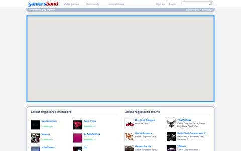 Screenshot of Maps & Directions Page gamersband.com - Geo-social network to find players and video games tournaments near your location. - Gamersband - captured June 16, 2015