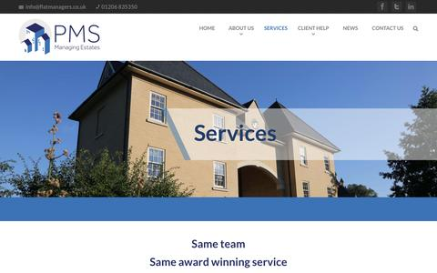 Screenshot of Services Page flatmanagers.co.uk - Our range of Property management services | PMS Flat managers - captured Oct. 16, 2016