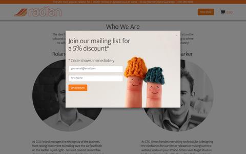 Screenshot of About Page radfan.com - About Us – Radfan - captured June 11, 2017