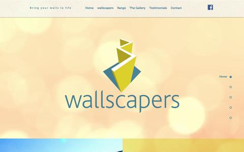 Screenshot of Home Page wallscapers.co.uk - Wallscapers LTD Birmingham large format printing services - captured Oct. 19, 2017