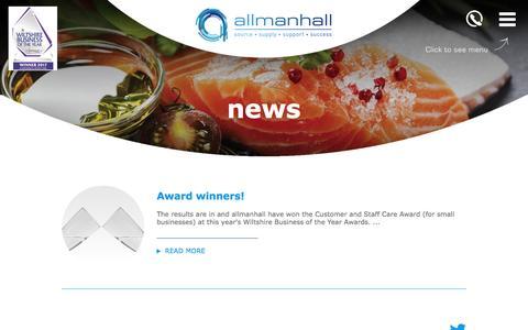 Screenshot of Press Page allmanhall.co.uk - allmanhall - news - captured May 31, 2017
