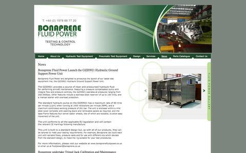 Screenshot of Press Page bonaprenefluidpower.co.uk - Bonaprene Fluid Power > News - captured Oct. 5, 2014