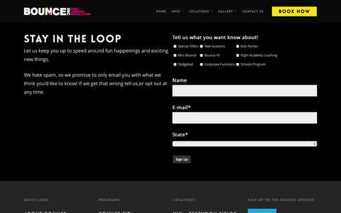 Screenshot of Signup Page bounceinc.com.au - Sign up - BOUNCEinc - captured Oct. 29, 2014