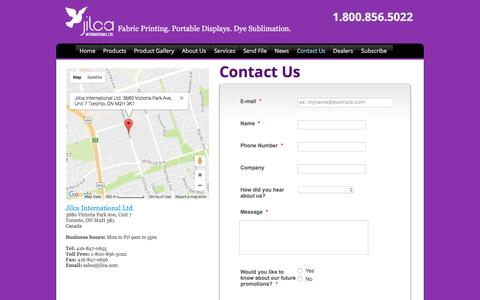 Screenshot of Contact Page jilca.com - Contact Us | Jilca International - captured Nov. 27, 2016