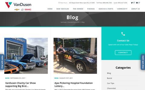 Screenshot of Blog vandusengm.com - Blog - VanDusen Chevrolet Buick GMC - captured Oct. 9, 2017