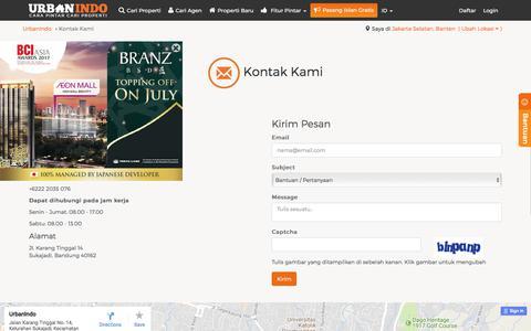 Screenshot of Contact Page urbanindo.com - Kontak Kami - captured June 20, 2017