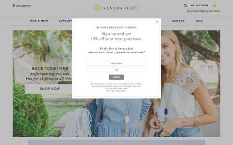 Screenshot of Home Page kendrascott.com - Kendra Scott Jewelry | Women's Jewelry - captured Aug. 8, 2016