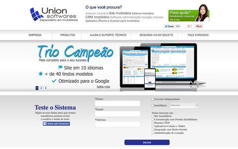 Screenshot of Home Page uso.com.br - Sistema para Imobiliária + Site para Imobiliária - captured Sept. 24, 2014