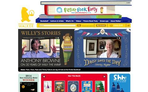Screenshot of Home Page walker.co.uk - Walker Books - Walker Books - Childrens Books - captured Sept. 19, 2014