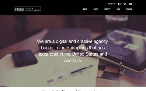 Screenshot of About Page prodigicreatives.com - About Prodigi Creatives, a Manila based web design agency - captured Oct. 3, 2014