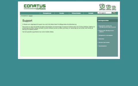 Screenshot of Support Page conatussoftware.dk - Effektive Internet Løsninger - captured Sept. 30, 2014