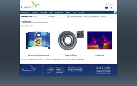 Screenshot of Case Studies Page cenaero.be captured Sept. 29, 2014