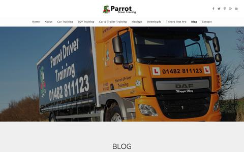 Screenshot of Blog parrot.me.uk - Blog - Parrot Driver Training - captured July 14, 2017