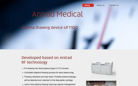 Screenshot of Products Page antrad.se - Products | Antrad Medical - captured Nov. 1, 2017