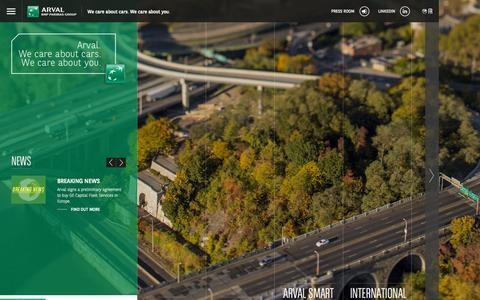 Screenshot of Home Page arval.com - Arval - captured Oct. 7, 2015