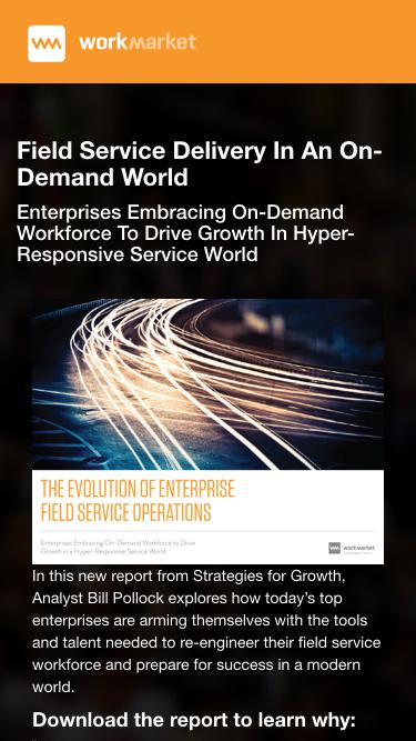 Field Service Delivery In An On-Demand World