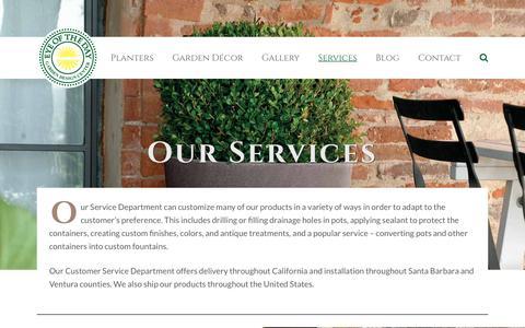 Screenshot of Services Page eyeofthedaygdc.com - Garden Design Services - captured Nov. 15, 2016