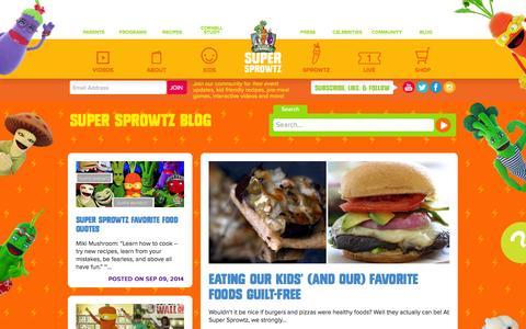 Screenshot of Blog supersprowtz.com - Super Sprowtz Blog│ Super Sprowtz - captured Sept. 18, 2014