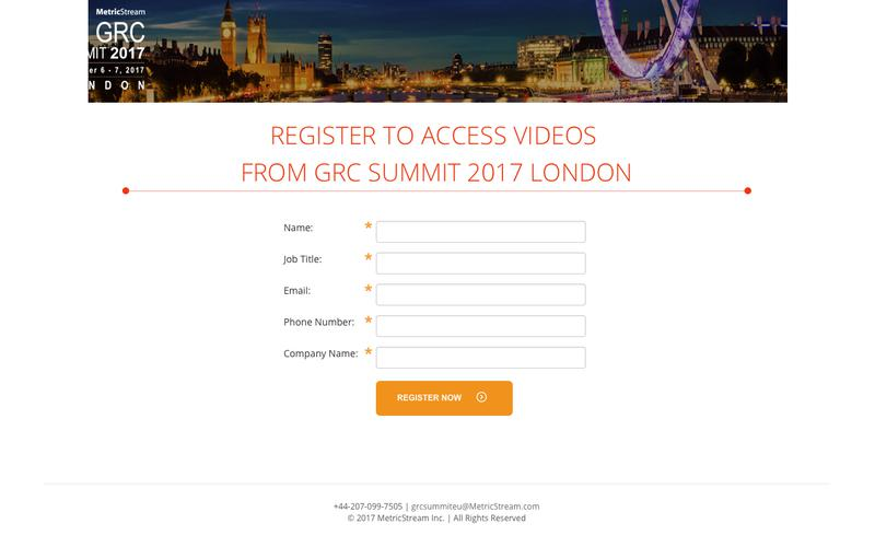 Watch GRC Summit 2017 | Washington D.C