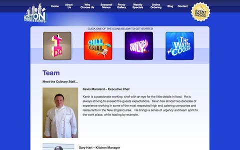 Screenshot of Team Page bostoncater.com - Team   Boston Cater and Cafe - captured Nov. 3, 2014