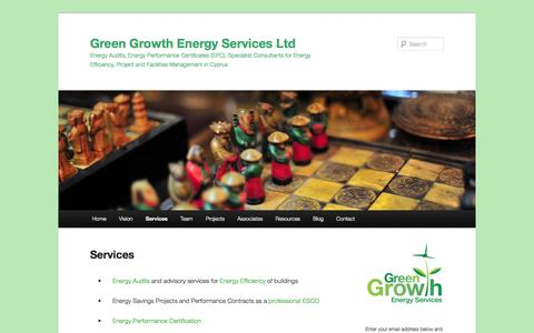 Screenshot of Services Page greengrowthenergy.eu - Services | Green Growth Energy Services Ltd - captured Oct. 1, 2014