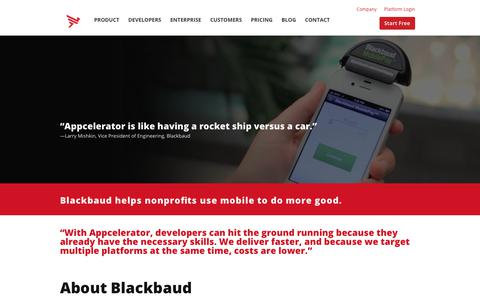 Screenshot of Case Studies Page appcelerator.com - Blackbaud Case Study | Appcelerator - captured Dec. 29, 2017