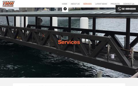 Screenshot of Services Page twwoods.com.au - T.W.Woods - captured Oct. 19, 2018
