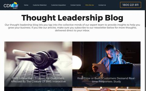 Screenshot of Blog cdmdirect.com.au - Thought Leadership Blog - Help Grow Your Business with CDM Direct - captured May 12, 2017