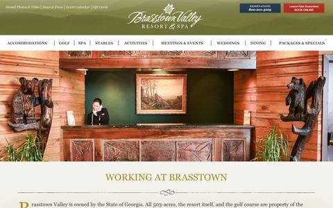 Screenshot of Jobs Page brasstownvalley.com - Brasstown Valley Resort - Careers - captured Jan. 17, 2016
