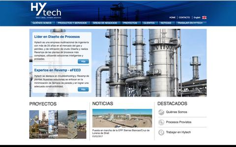 Screenshot of Home Page hytech.com.ar - Hytech - captured May 24, 2017