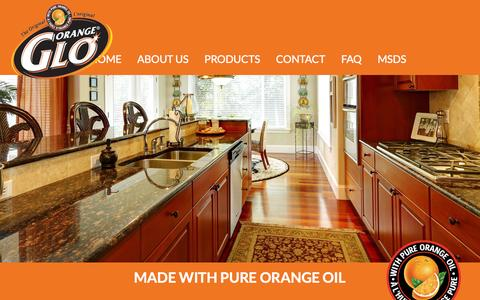 Screenshot of Home Page orangeglo.com - Orange Glo - captured Sept. 7, 2015