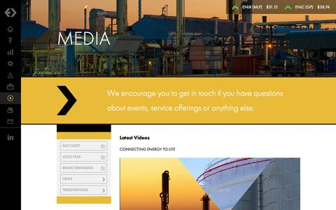 Screenshot of Press Page enlink.com - EnLink Midstream - Connecting Energy to Life - Strong. Innovative. Growing. - captured Oct. 27, 2014