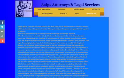 Screenshot of Terms Page aalpslegal.com - Terms of Use - captured Oct. 4, 2014