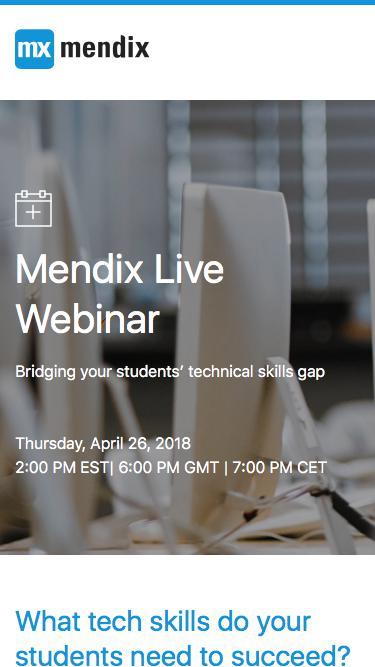 Mendix Live Webinar   Mendix Webinar