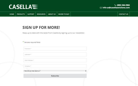 Screenshot of Signup Page casellasolutions.com captured July 17, 2017