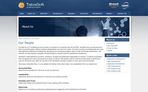 Screenshot of Team Page tatvasoft.com - Offshore Software Development Services - captured Sept. 23, 2014