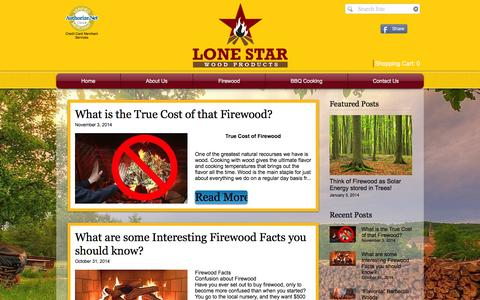 Screenshot of Blog woodbundle.com - Lone Star Wood Products - Firewood & BBQ Cooking Wood Delivery   Wood Knowledge - captured Nov. 13, 2016