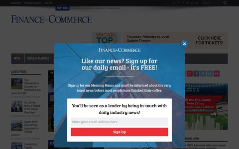 Screenshot of Home Page finance-commerce.com - Finance & Commerce - captured Jan. 28, 2018