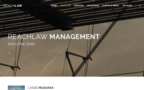Screenshot of Team Page reachlaw.fi - Management | REACHLaw - captured Jan. 12, 2016