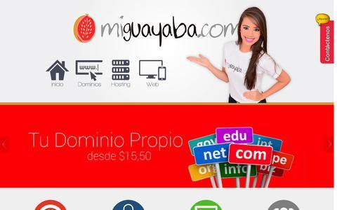Screenshot of Home Page miguayaba.com - MiGuayaba.com | Hosting, Dominios y Desarrollo Web - captured Jan. 26, 2015