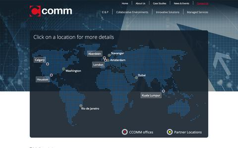 Screenshot of Contact Page ccomm.co.uk - CCOMM | Integrated Collaborative Work Environments | Contact Us - captured Oct. 1, 2014
