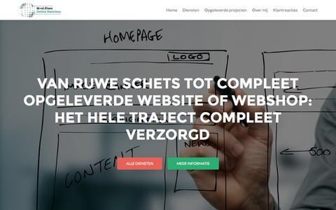 Screenshot of Home Page mvdelzen.nl - M.vd.Elzen Online Solutions, Websites & Webshops - captured Sept. 19, 2015