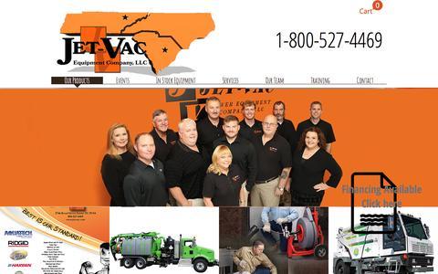 Screenshot of Home Page jet-vac.com - www-jet-vac-com - captured Nov. 26, 2016