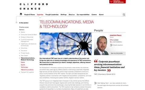 Clifford Chance | Telecommunications, Media & Technology