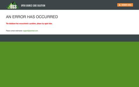 Screenshot of Login Page joomlavi.com - An Error has occurred - captured June 25, 2017
