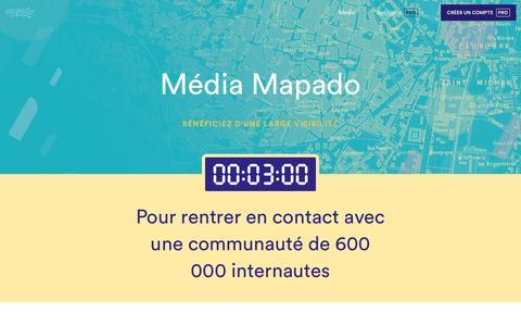Screenshot of Press Page mapado.com - Média Mapado - captured May 27, 2017