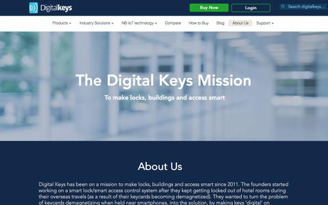 Screenshot of About Page digitalkeys.io - About Us Digital Keys - captured Aug. 21, 2019
