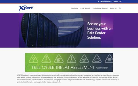 Screenshot of Home Page xpert.com - Xpert Solutions | - captured Feb. 13, 2016