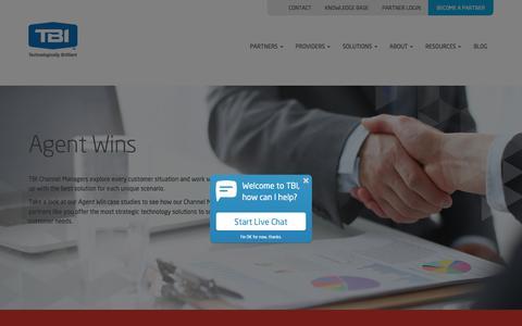 Screenshot of Case Studies Page tbicom.com - Case Studies - TBI - captured June 19, 2018
